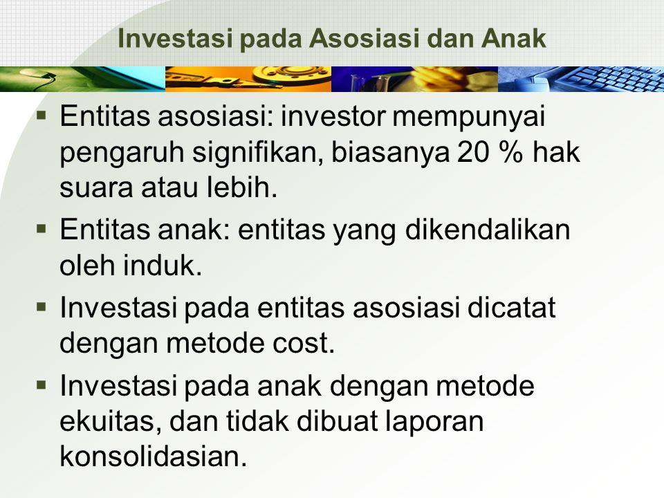 Investasi pada Asosiasi dan Anak