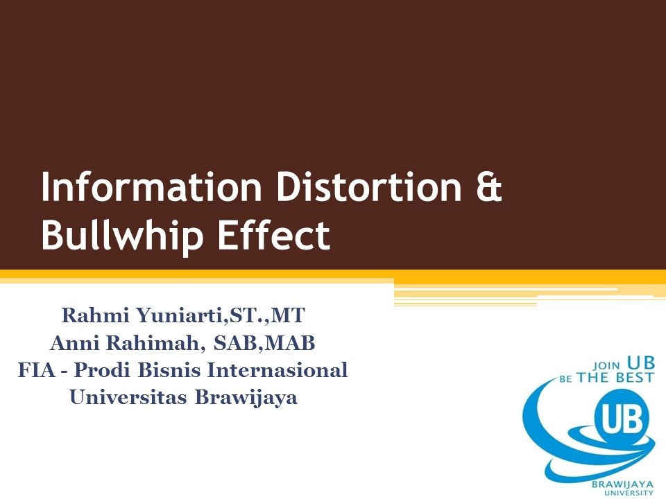 Information Distortion & Bullwhip Effect