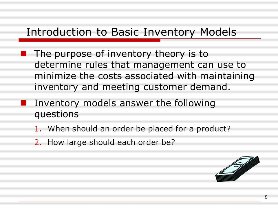 Introduction to Basic Inventory Models