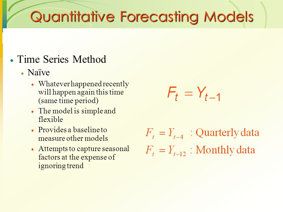 Quantitative Forecasting Models