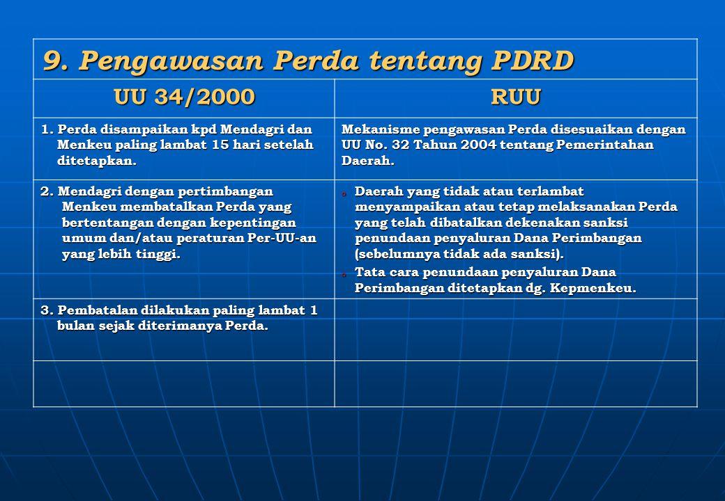 9. Pengawasan Perda tentang PDRD