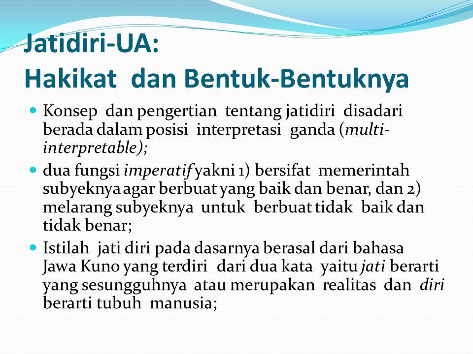Jatidiri-UA: Hakikat dan Bentuk-Bentuknya