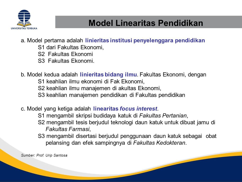 Model Linearitas Pendidikan