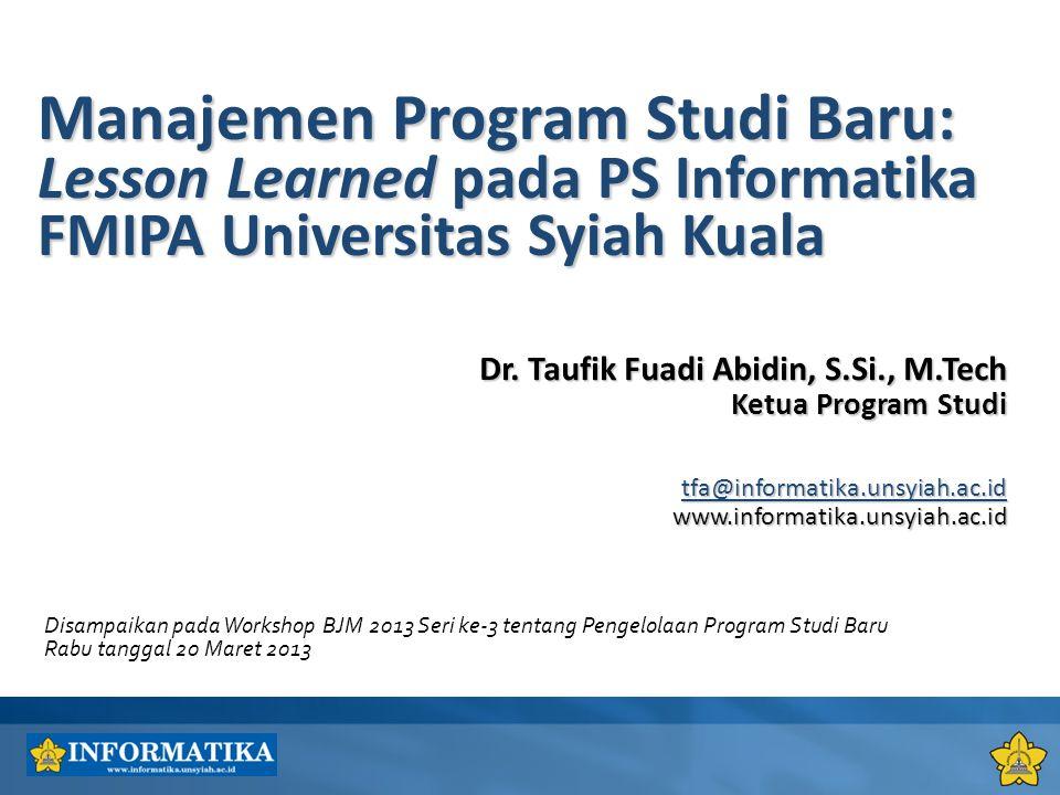 Manajemen Program Studi Baru: