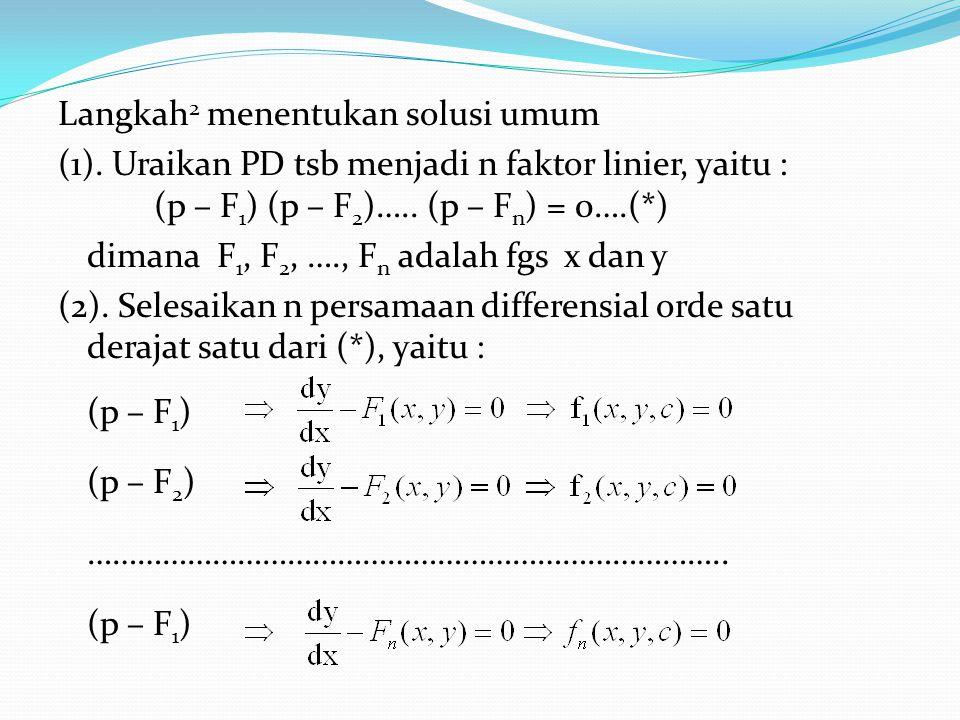Langkah2 menentukan solusi umum (1)