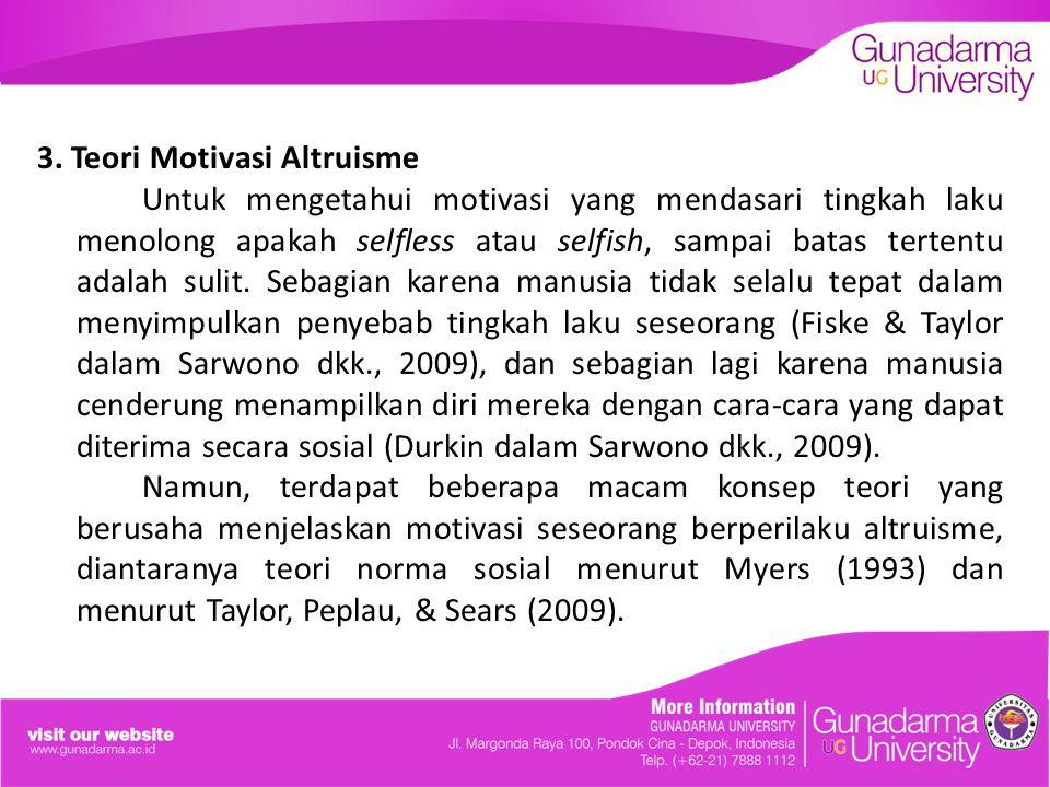 3. Teori Motivasi Altruisme