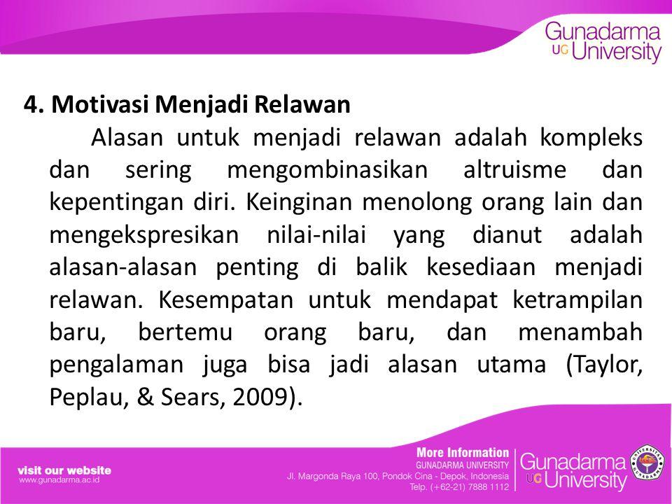 4. Motivasi Menjadi Relawan