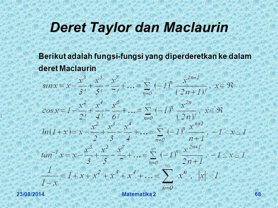 Deret Taylor dan Maclaurin
