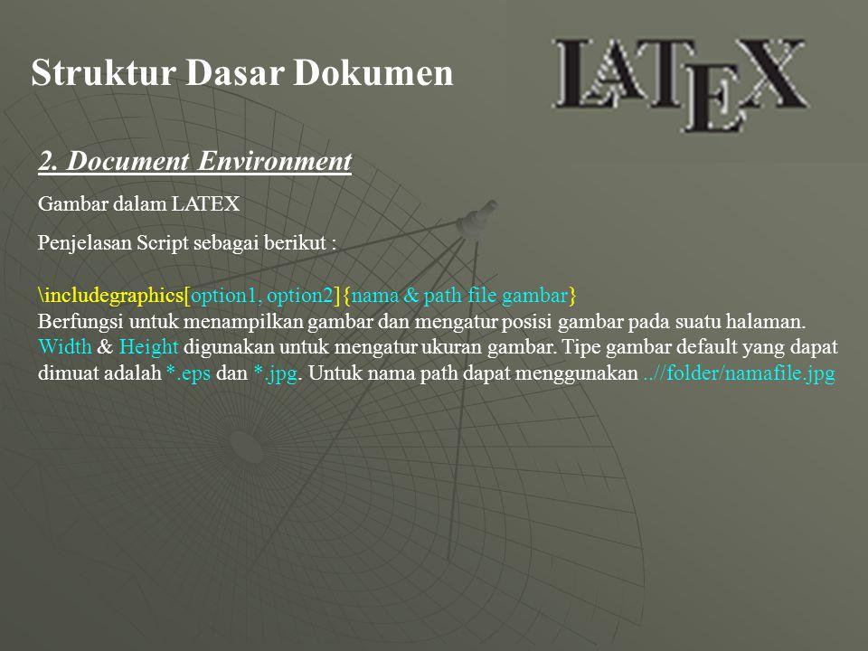 Struktur Dasar Dokumen