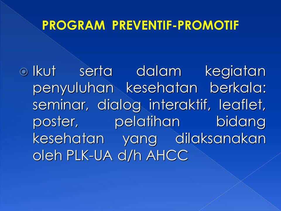 PROGRAM PREVENTIF-PROMOTIF