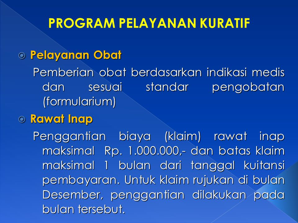 PROGRAM PELAYANAN KURATIF