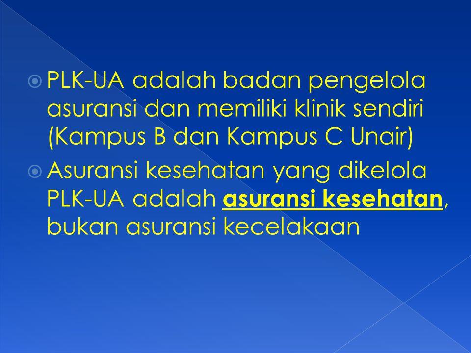 PLK-UA adalah badan pengelola asuransi dan memiliki klinik sendiri (Kampus B dan Kampus C Unair)