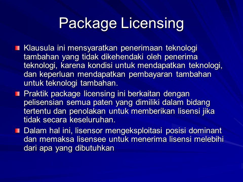 Package Licensing