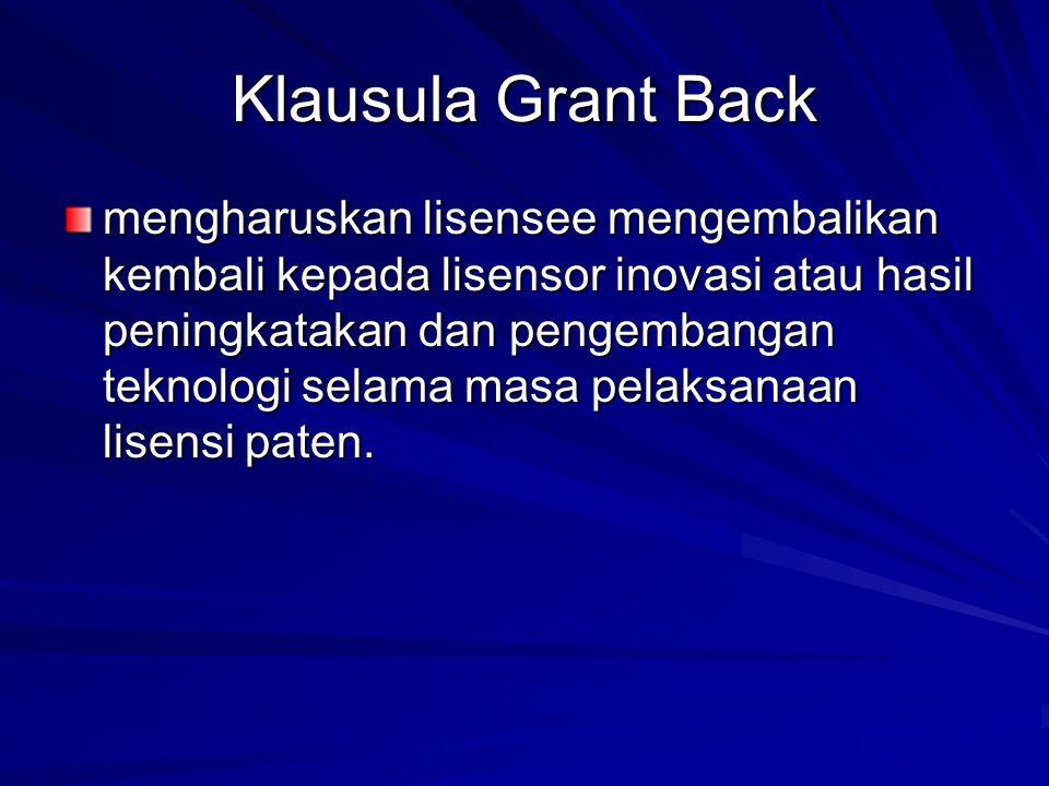 Klausula Grant Back