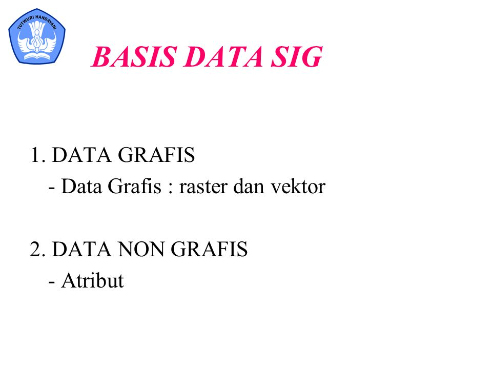 BASIS DATA SIG 1. DATA GRAFIS - Data Grafis : raster dan vektor
