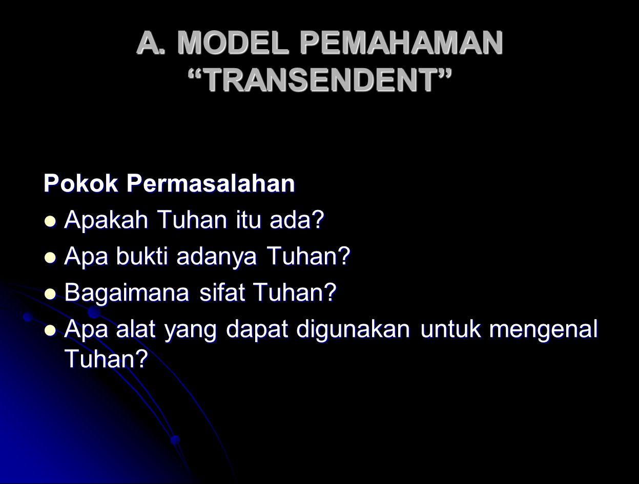 A. MODEL PEMAHAMAN TRANSENDENT