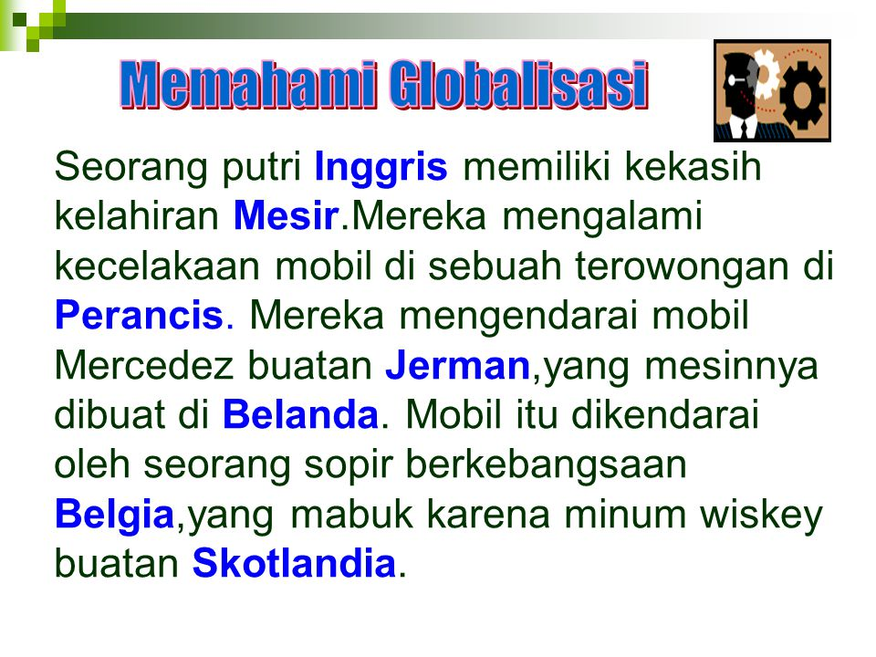 Memahami Globalisasi