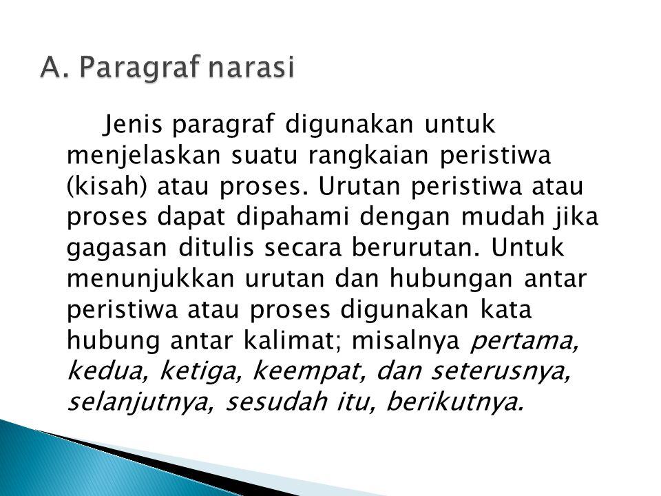 A. Paragraf narasi