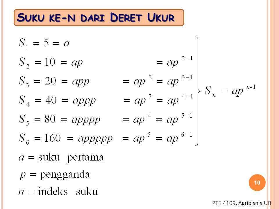 Suku ke-n dari Deret Ukur