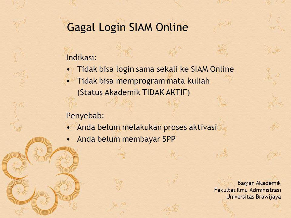 Gagal Login SIAM Online