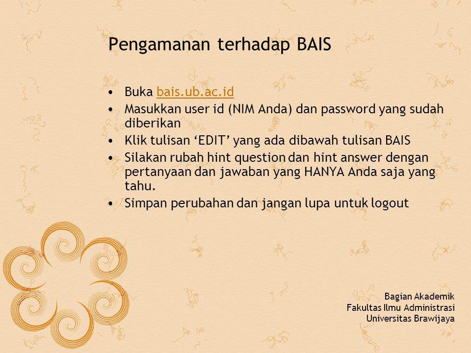 Pengamanan terhadap BAIS