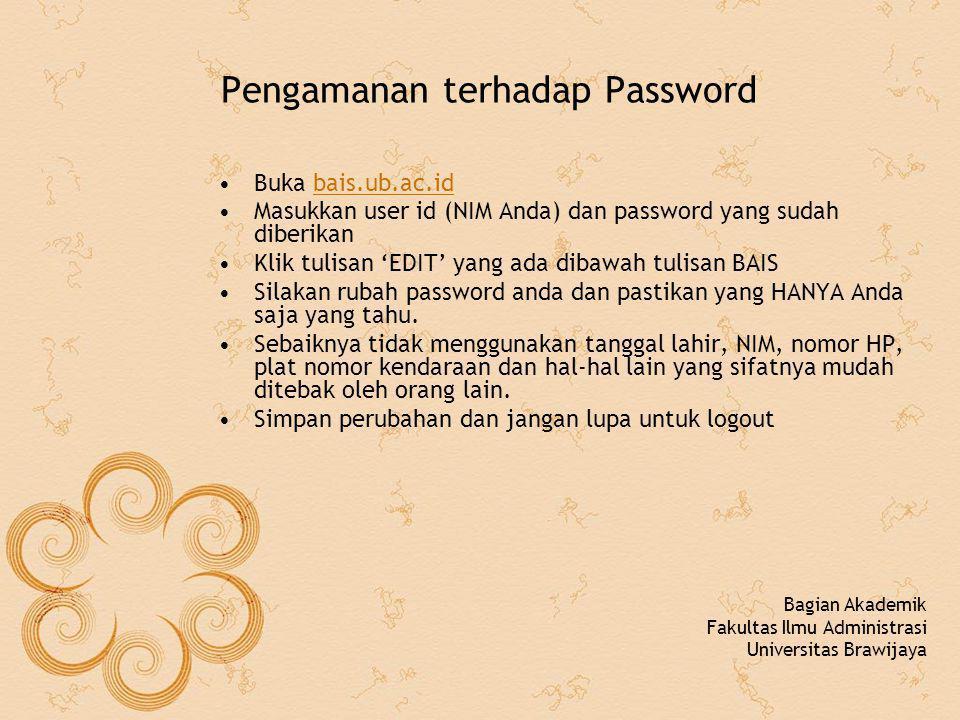 Pengamanan terhadap Password