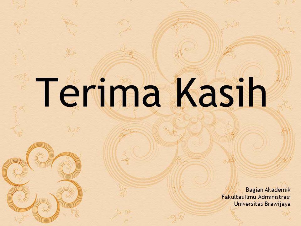 Terima Kasih Bagian Akademik Fakultas Ilmu Administrasi Universitas Brawijaya
