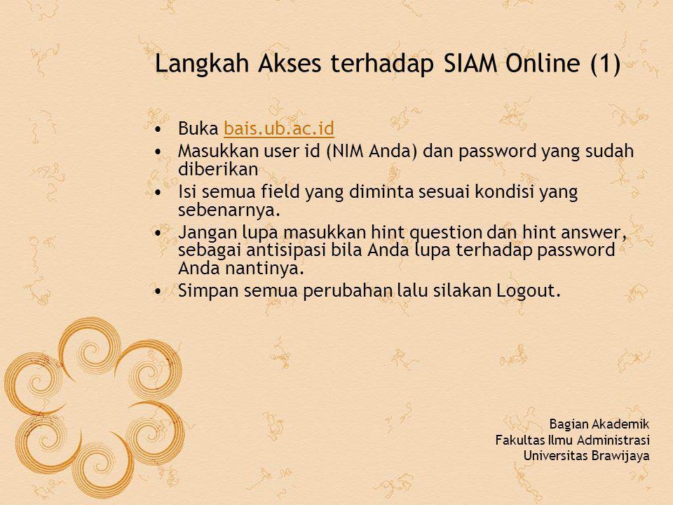 Langkah Akses terhadap SIAM Online (1)