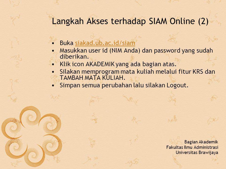 Langkah Akses terhadap SIAM Online (2)