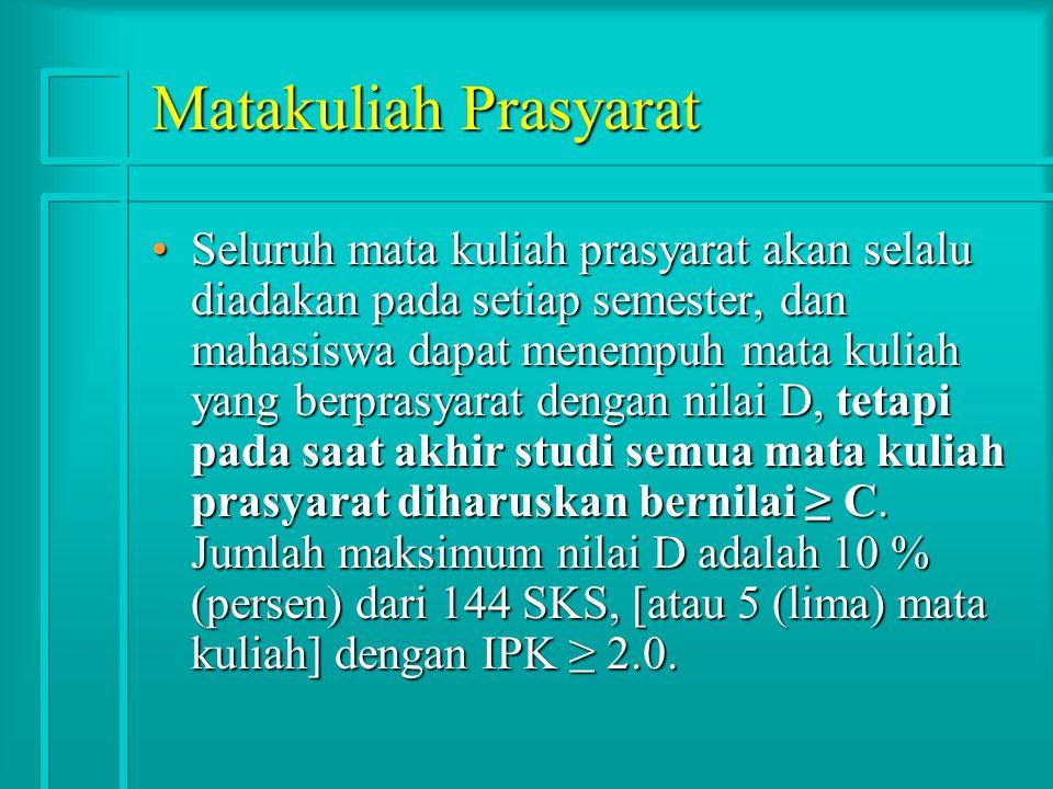 Matakuliah Prasyarat