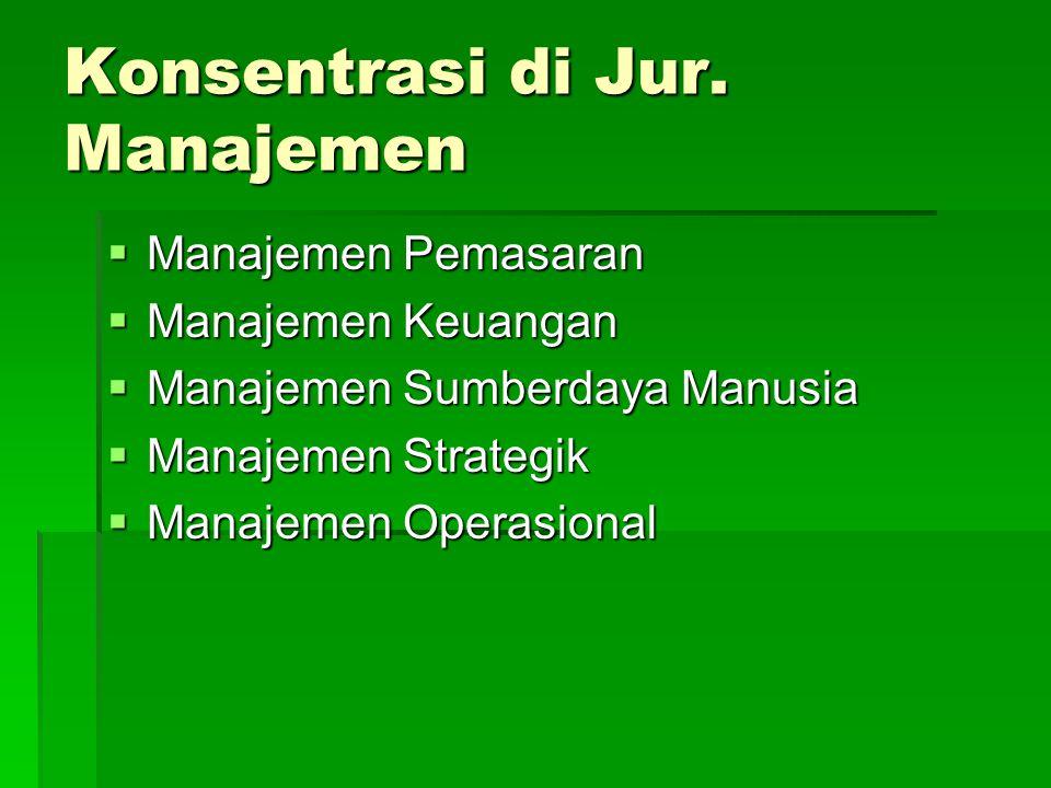 Konsentrasi di Jur. Manajemen