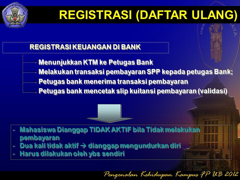 REGISTRASI KEUANGAN DI BANK