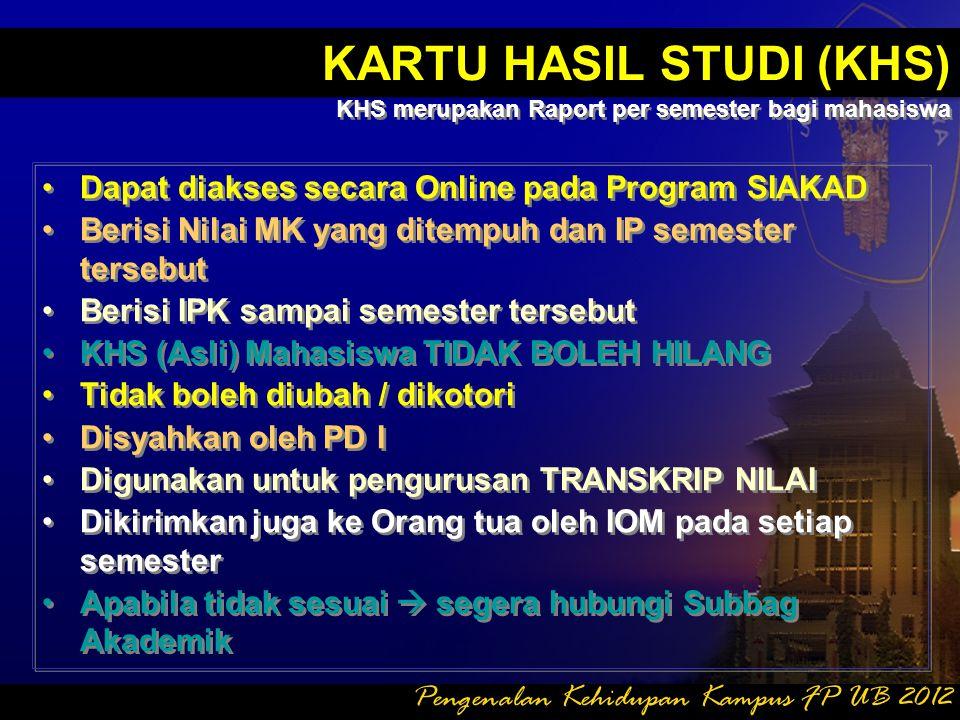 KARTU HASIL STUDI (KHS)