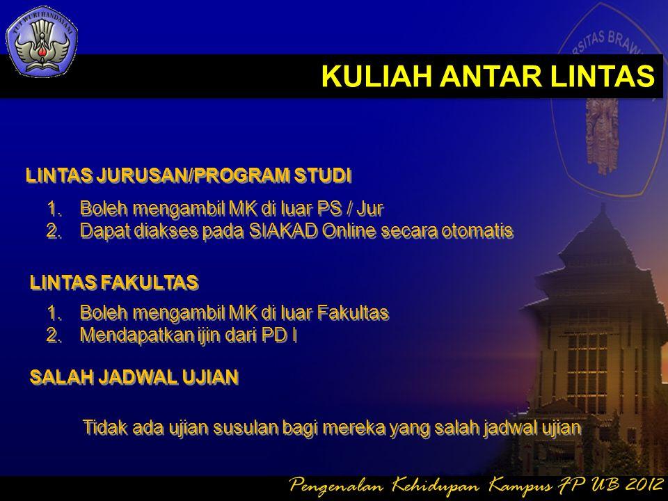 KULIAH ANTAR LINTAS Pengenalan Kehidupan Kampus FP UB 2012
