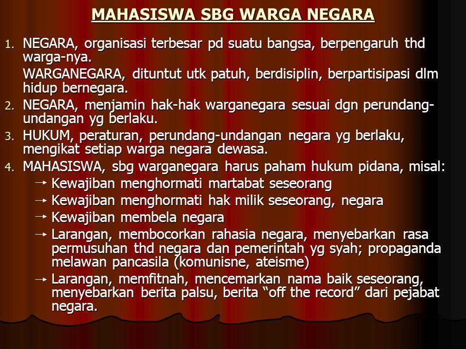 MAHASISWA SBG WARGA NEGARA
