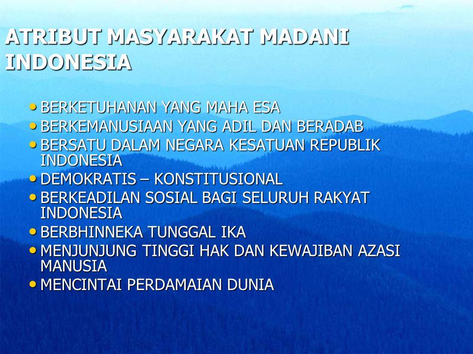 ATRIBUT MASYARAKAT MADANI INDONESIA