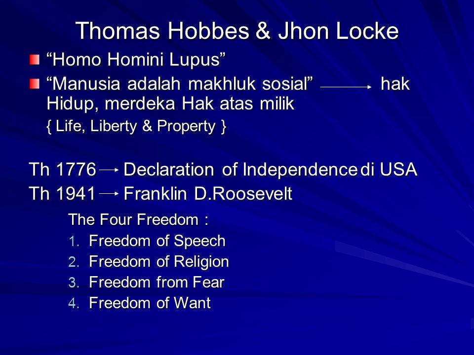 Thomas Hobbes & Jhon Locke