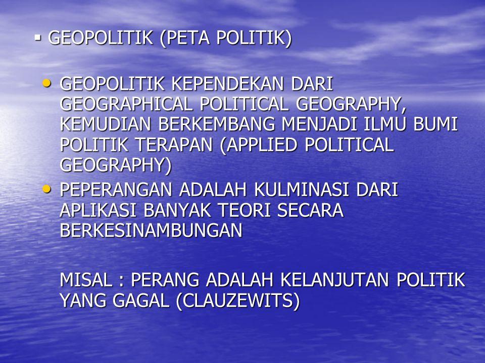 GEOPOLITIK (PETA POLITIK)