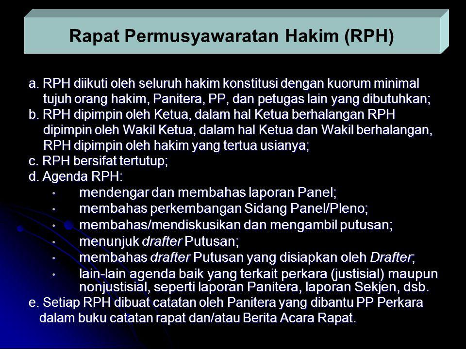 Rapat Permusyawaratan Hakim (RPH)