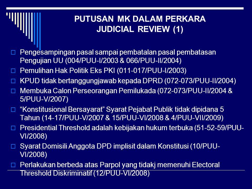 PUTUSAN MK DALAM PERKARA JUDICIAL REVIEW (1)