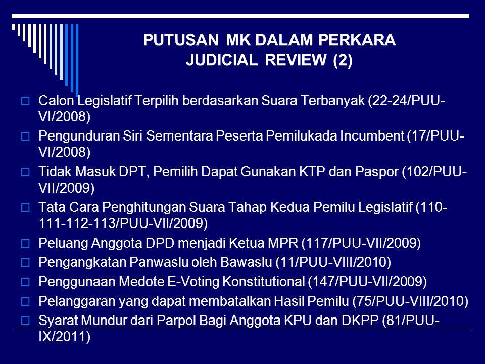 PUTUSAN MK DALAM PERKARA JUDICIAL REVIEW (2)