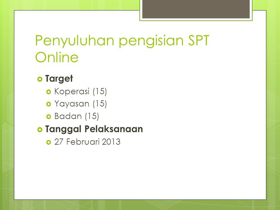 Penyuluhan pengisian SPT Online