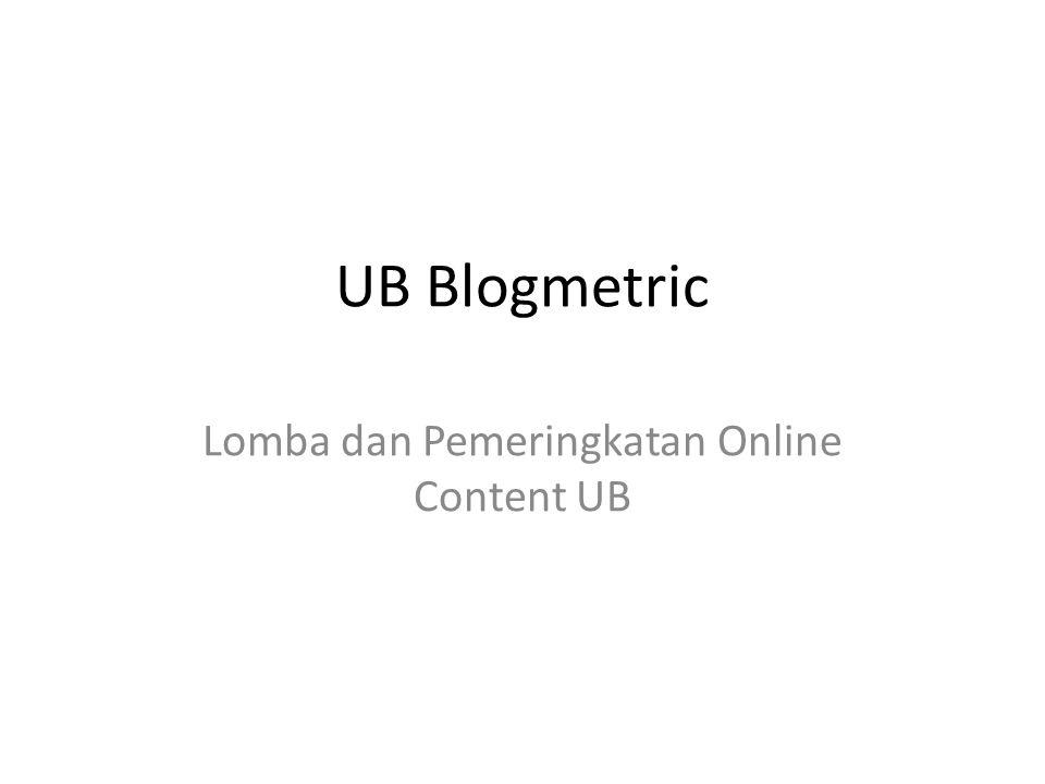 Lomba dan Pemeringkatan Online Content UB