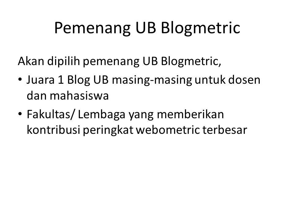 Pemenang UB Blogmetric