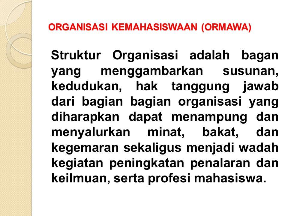 ORGANISASI KEMAHASISWAAN (ORMAWA)
