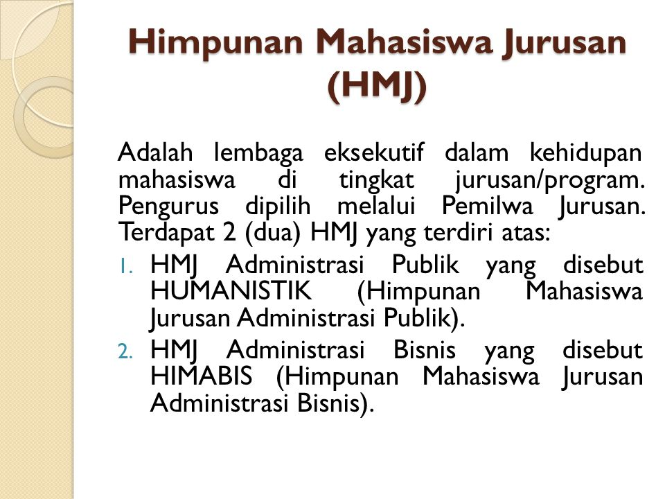Himpunan Mahasiswa Jurusan (HMJ)