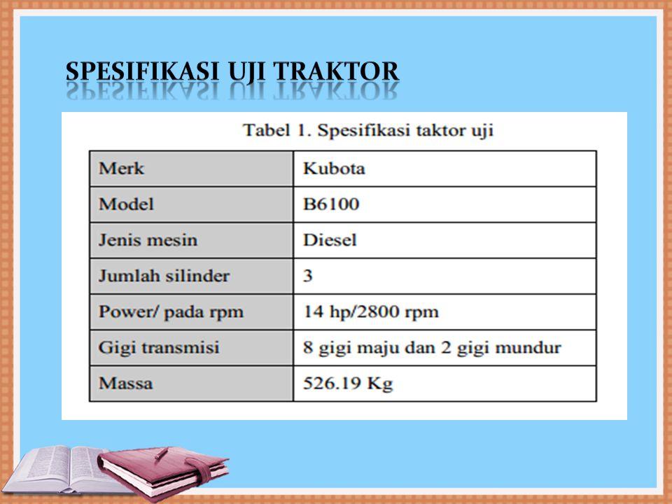 Spesifikasi uji traktor
