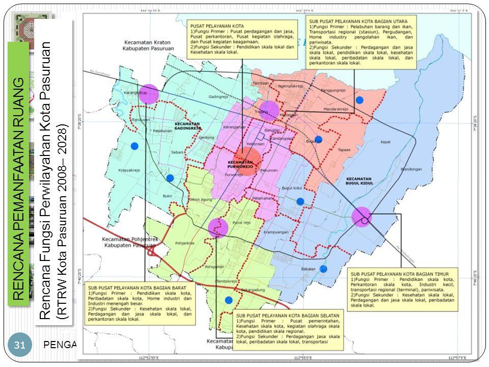 Rencana Fungsi Perwilayahan Kota Pasuruan