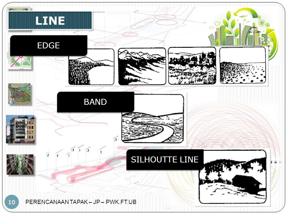 LINE EDGE BAND SILHOUTTE LINE