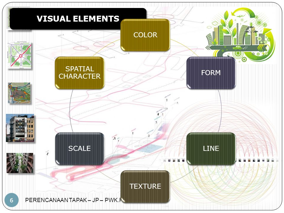 VISUAL ELEMENTS COLOR FORM LINE TEXTURE SCALE SPATIAL CHARACTER
